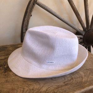 KANGOL Rare White Arnold Trilby Bamboo Fedora Hat